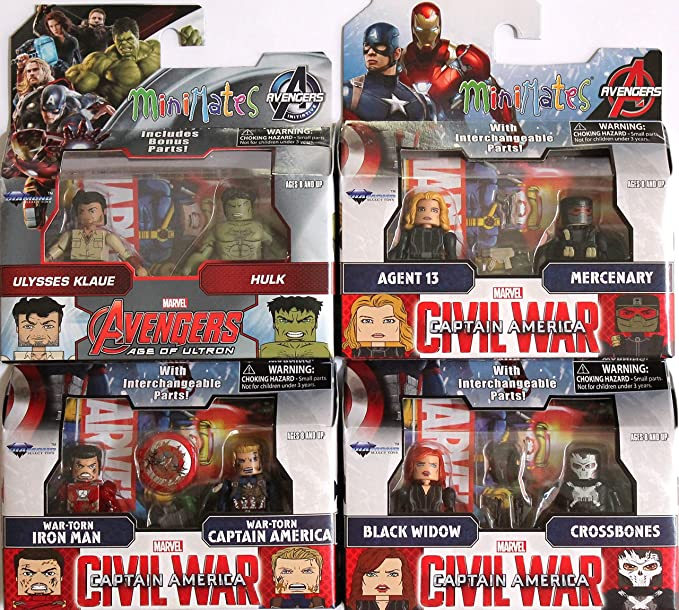 Marvel Minimates Series 67 Captain America Civil War Movie War-Torn Iron Man