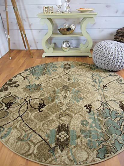 Amazon.com: AS Quality Rugs Round Rugs 6ft Circle Rugs for Living ...