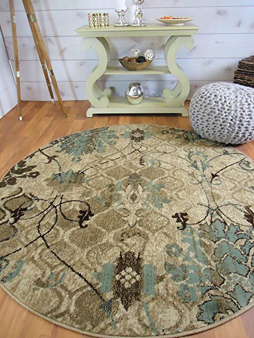 AS Quality Rugs Round Rugs 6ft Circle Rugs For Living Room 5ft