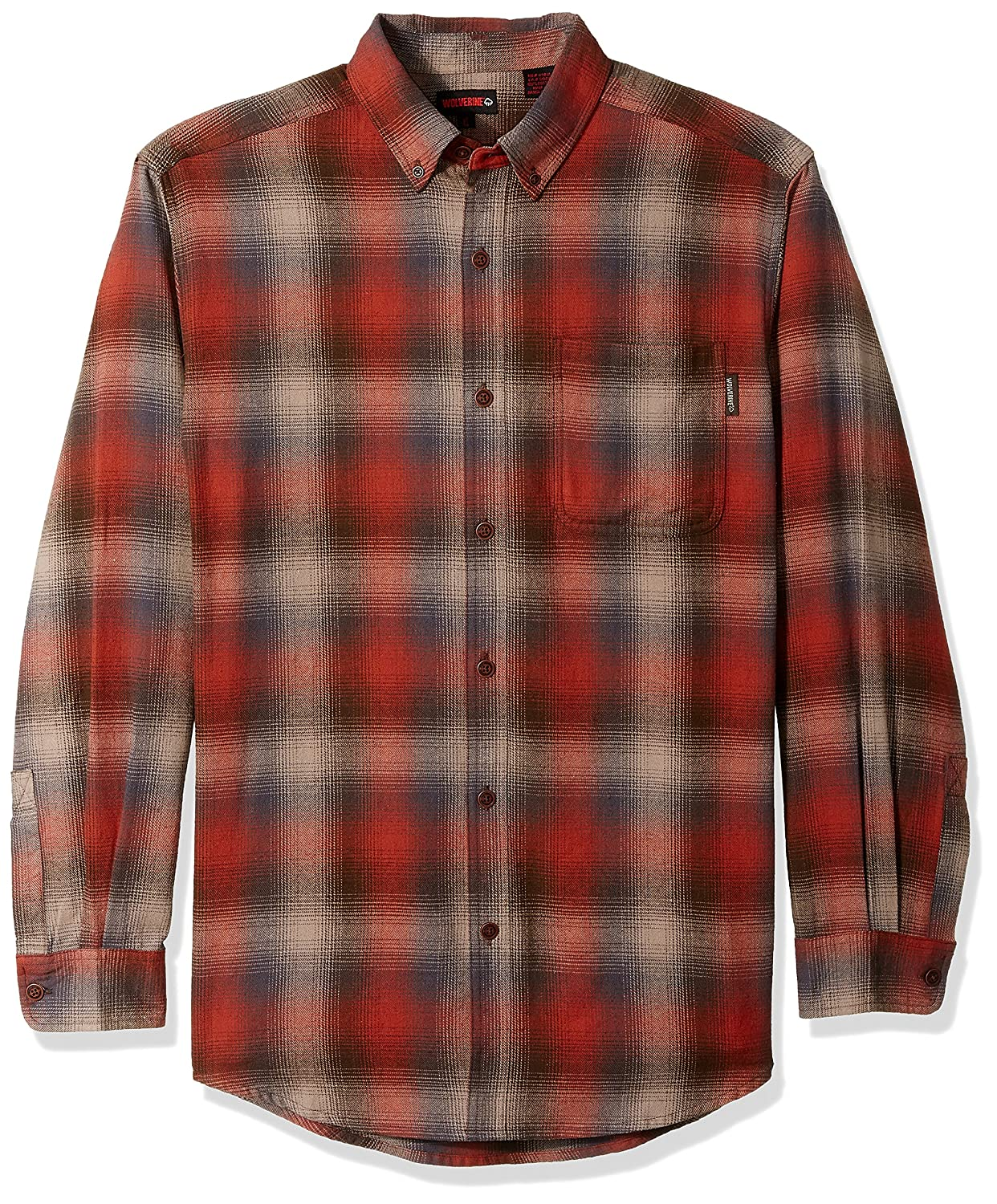 Wolverine SHIRT メンズ B072W87351 Large Tall|Cinnamon Plaid Cinnamon Plaid Large Tall