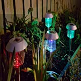 SoSupplies 12 x Solar Powered Colour Changing Post Lights LED Outdoor Garden Lighting