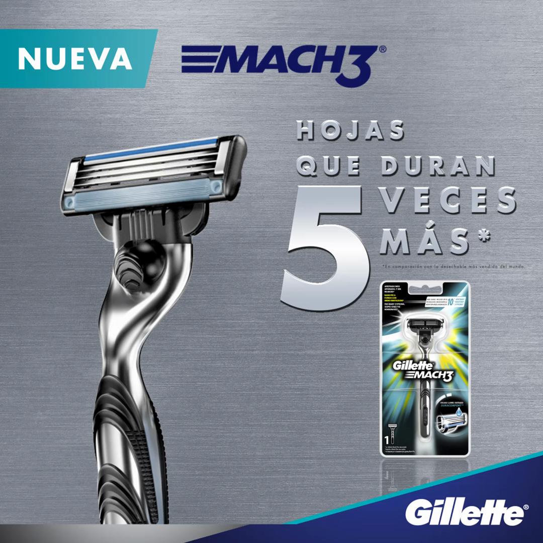 Gillette Mach3 - Maquinilla de Afeitar para Hombre + 11 Cuchillas ...