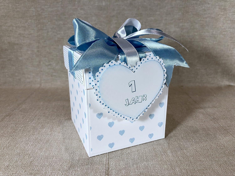 Geburtstag Geburtstag Blau Gl/ückw/ünsche Kindergeburtstag Explosionsbox 1 Geldgeschenk 1