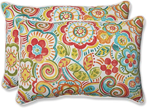 Pillow Perfect 569086 Outdoor Bronwood Carnival Over-Sized Rectangular Throw Pillow, Multicolored