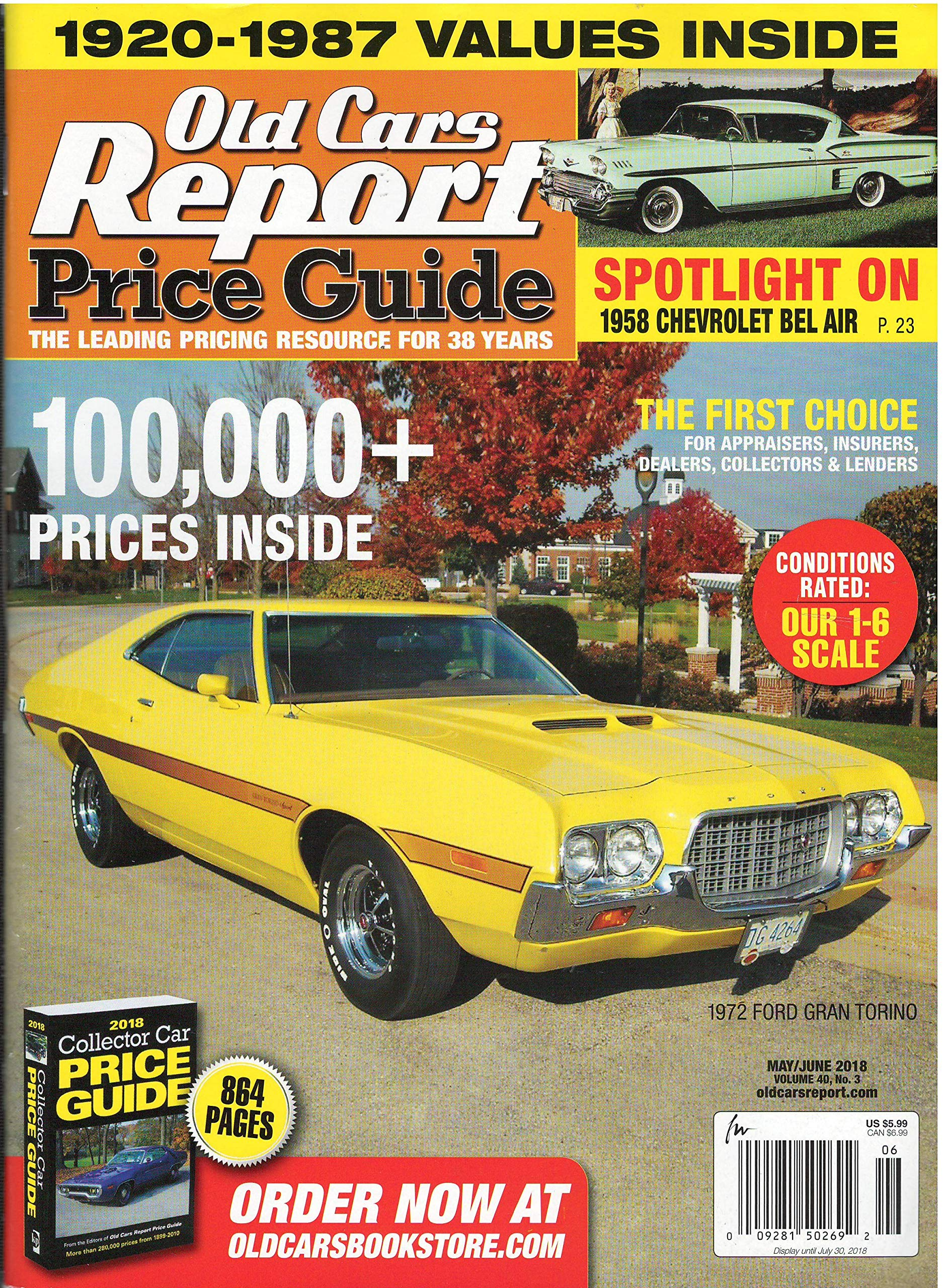 Old Car Values >> Old Car Report Price Guide Magazine May June 2018 Various