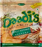 Daadi's Golden Wheat Crisps Chilly Kothmir Khakhra (Pack of 3)