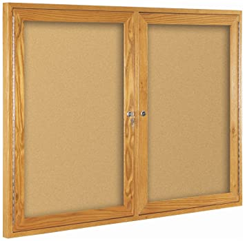 Superbe Best Rite Wood Trim Enclosed Bulletin Board Cabinet, 2 Hinged Door, 36u0026quot;