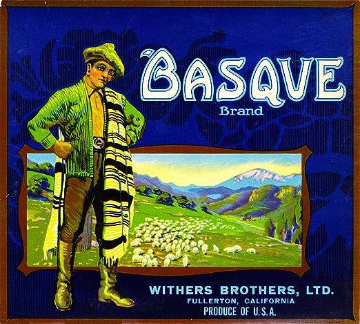 Fullerton Basque Spain Spanish Orange Citrus Fruit Crate Label Art Print