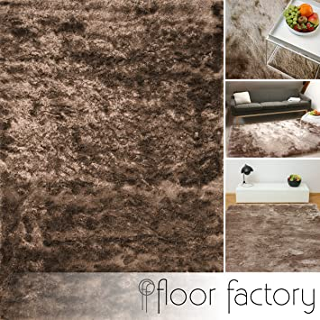 floor factory Tapis de salon Satin marron clair 80x150 cm - tapis ...