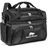 Night Polar By Absolute Zero - Premium Soft Cooler Lunch Bag For Adults – Insulated Cooler W/ Compartments –Ideal For Meal Prep Containers – Multiple Zippered Mesh Pockets & Adjustable Straps