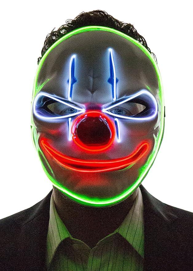 Máscara LED joker payaso para disfraz halloween