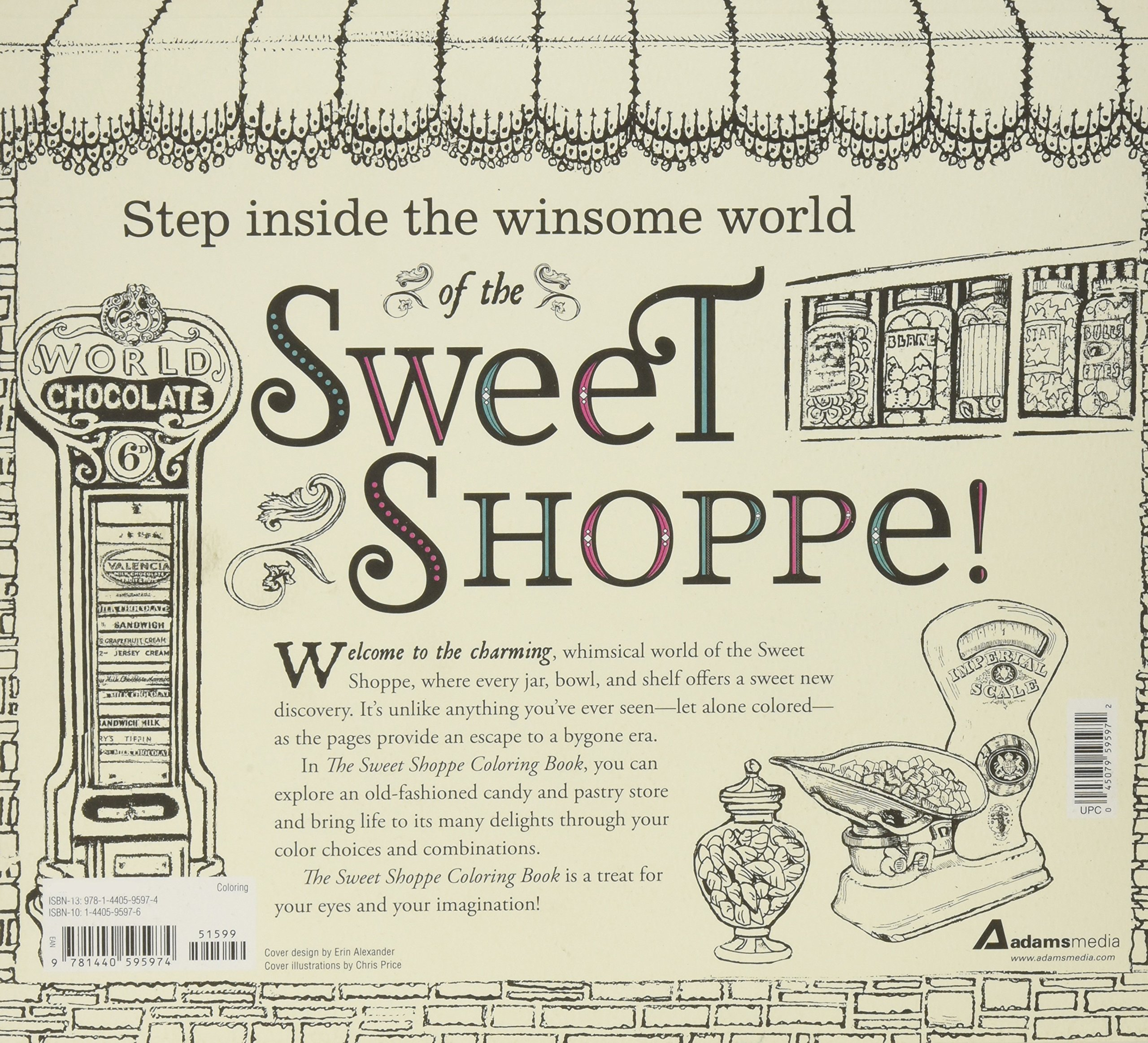 Amazon The Sweet Shoppe Coloring Book A Fantastical And Splendid Display Of Divine Confectionary Creation Exquisite Candied Delights
