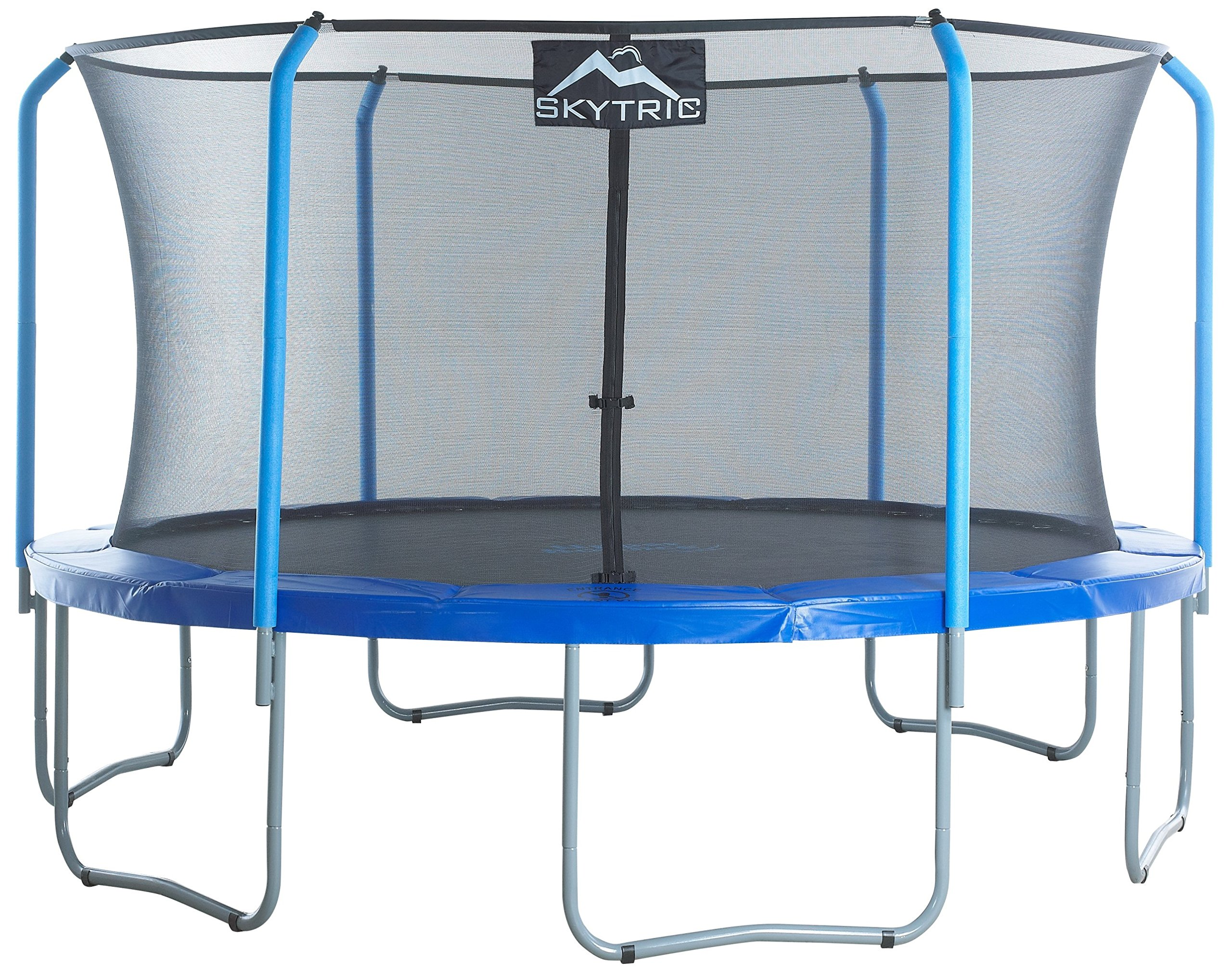 SKYTRIC Trampoline with Top Ring Enclosure System Equipped with The Easy Assemble Feature, 15-Feet