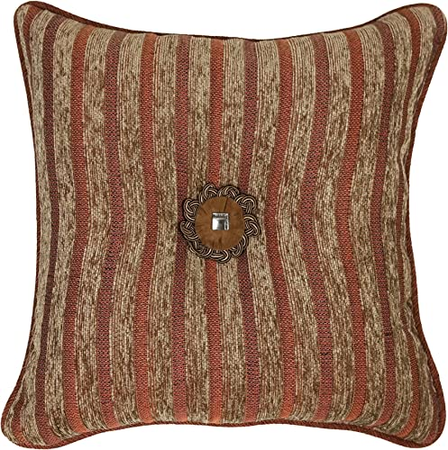 Veratex Pueblo Collection Contemporary Style Luxurious Patterned Polyester Bedroom Throw Pillow