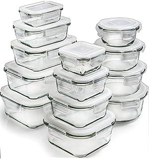 Amazoncom 18 Piece Glass Food Storage Container Set BPA Free