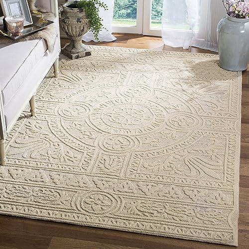 Safavieh Blossom Collection BLM109F Handmade Premium Wool Area Rug