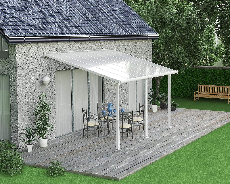 Palram Patio Cover Olympia, 16 mm terraza überdachung, Blanco, 425 x 295 x 305 cm