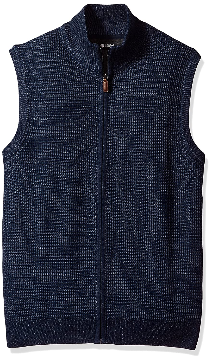 Haggar Men's Zip Front Sweater Vest HMF7F246-R11