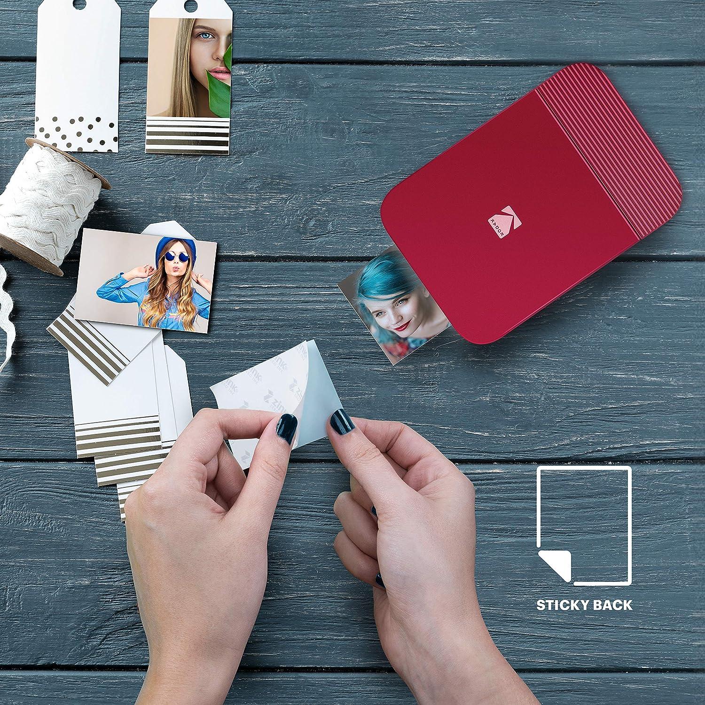 Blau KODAK Smile Digitaler Sofortdrucker Bluetooth Mini-Drucker zum Aufklappen f/ür iOS /& Android drucken /& teilen 2x3 Zink Fotos mit GRATIS Smile App Bearbeiten