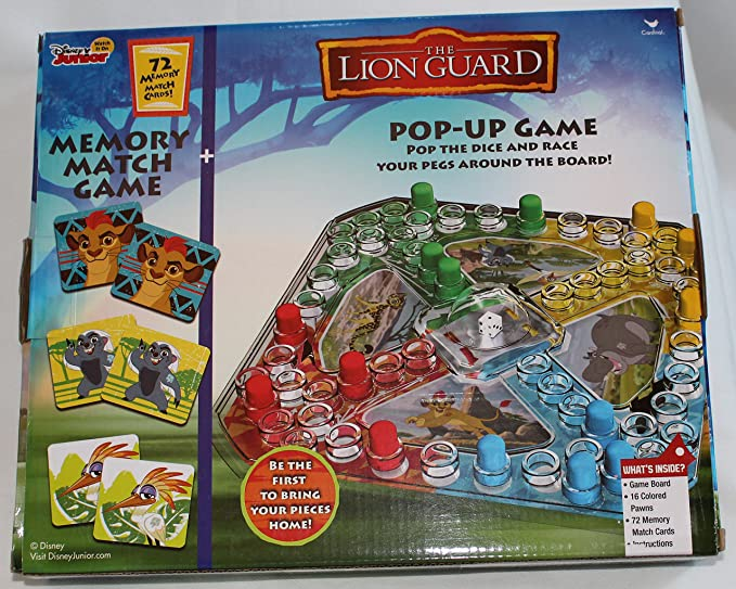 Amazon Disney Junior The Lion Guard Kion Pop Up Game And 72