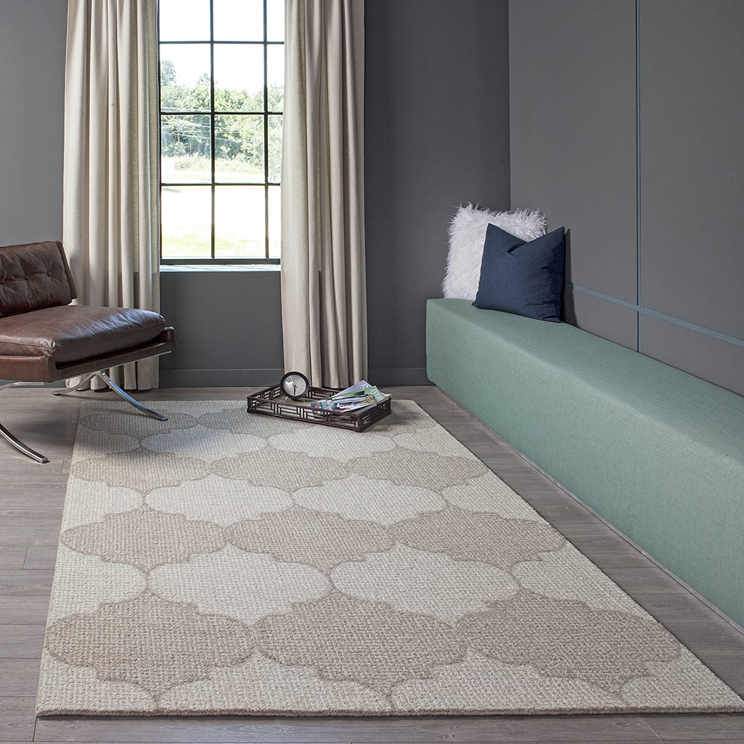 Momeni Rugs  Delhi Collection 100/% Wool Hand Carved /& Hand Tufted Contemporary Area Rug 23 x 80 Runner Beige