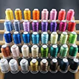 New brothread 40 Brother Couleurs Polyester Fil machine à broder pour Brother / Babylock / Janome / Singer / Kenmore Machine 500M (550Y) / bobine