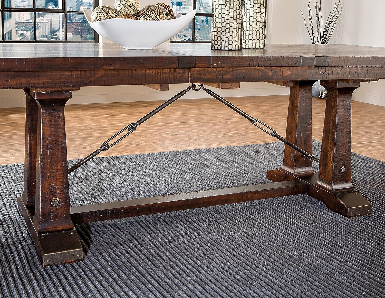 Amazon.com   Intercon Hayden Rough Sawn U0026 Espresso 7 Piece Dining Set    Table U0026 Chair Sets