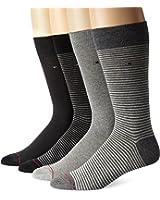 Tommy Hilfiger Men's Four-Pack Fine-Stripe Crew Sock