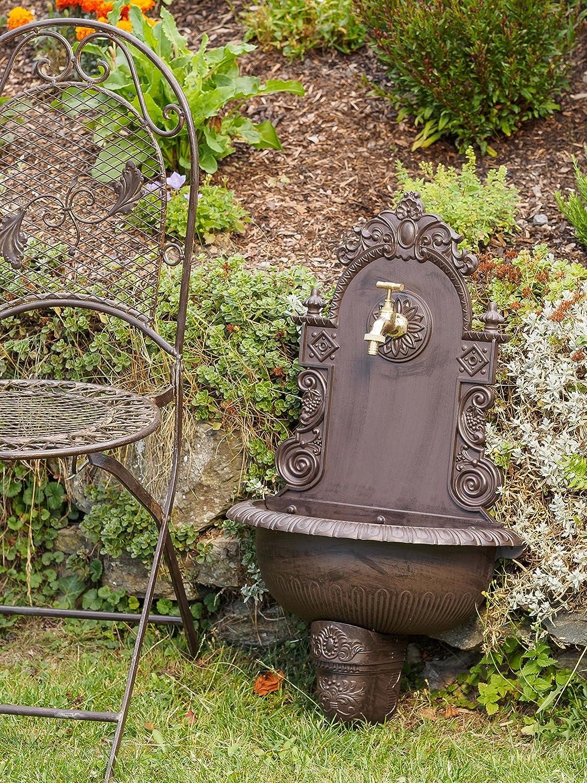 Amato Fontana da giardino a muro in alluminio stile antico marrone  LP11