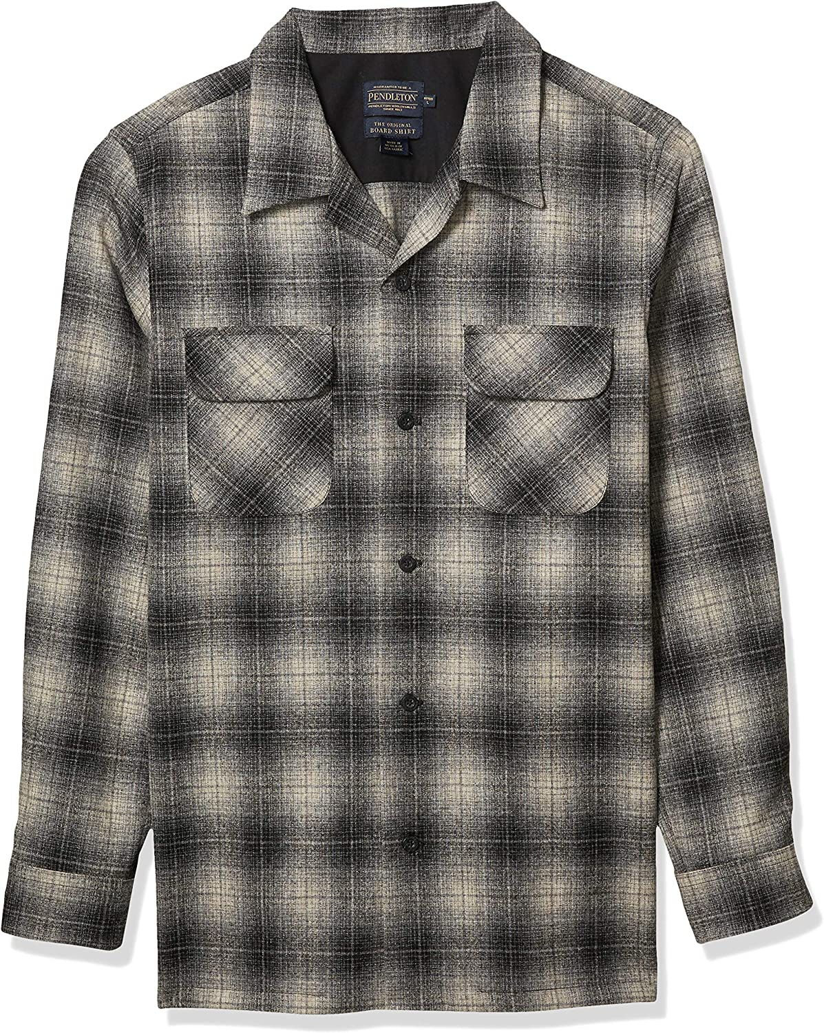 1920s Men's Dress Shirts, Casual Shirts Pendleton Mens Long Sleeve Fitted Board Shirt $149.00 AT vintagedancer.com