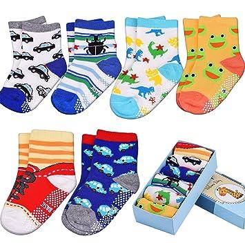 Calcetines del bebé, antideslizante, Calcetines para Niños,6-Pack de 12-36 meses bebé y bebé niñas: Amazon.es: Deportes y aire libre