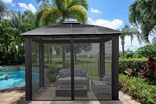 Paragon Outdoor GZ3DS - Cenador de Cúpula con Pantalla Deslizante de Siena DE 30, 48 x 30, 48 cm: Amazon.es: Jardín