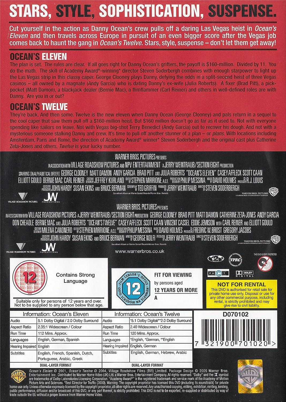 Ocean\'s Eleven/Ocean\'s Twelve [DVD]: Amazon.co.uk: George Clooney ...