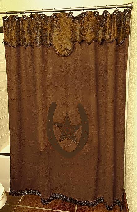 Amazon M F Western Unisex Star And Horseshoe Shower Curtain