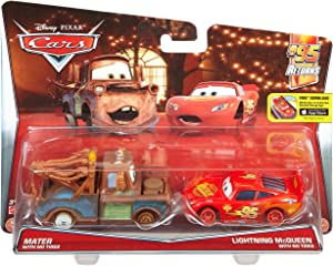 Disney/Pixar Cars Mater with No Tires and Lightning McQueen with No TiresVehicle 2-pack