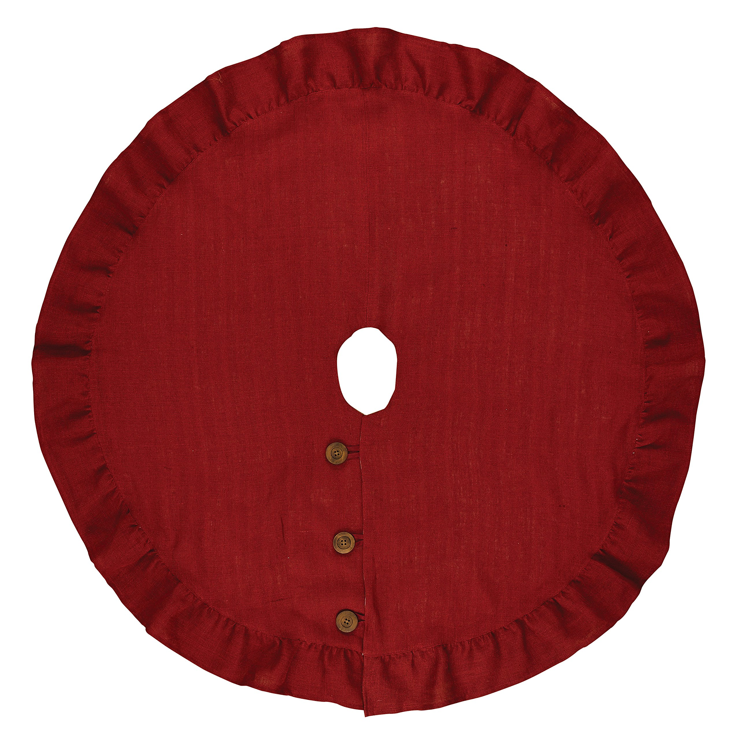 Park Designs 850-55M Holiday Collection Jute Burlap Tree Skirt 24'' Red