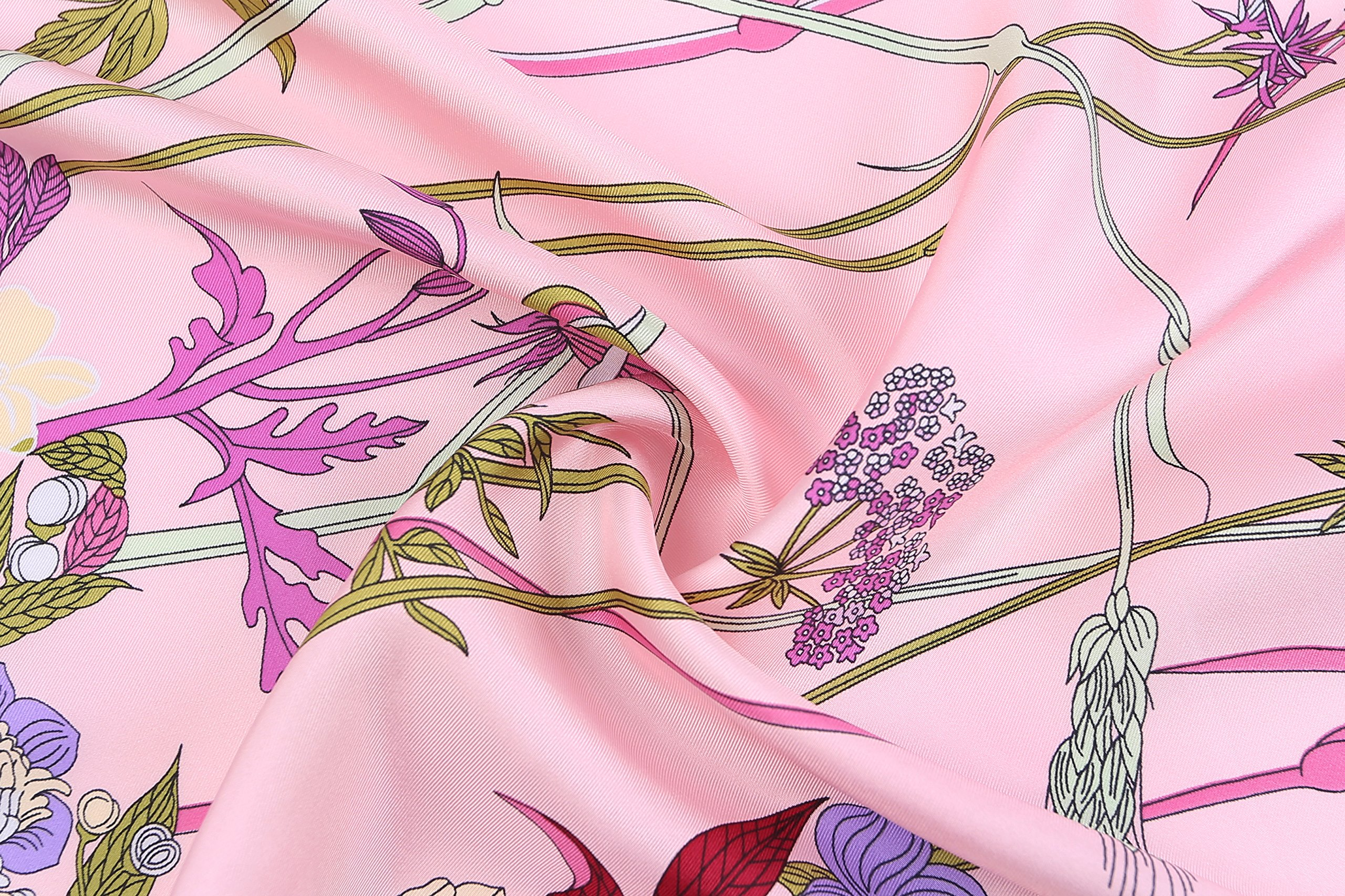 Jeelow 100% Pure Silk Scarf Scarves For Men & Women 36in Square Silk Twill Scarfs For Hair Gift Packaging by Jeelow (Image #4)