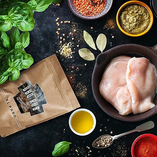BBQ Rub El Paso 270g | Marinada en seco para carne de cerdo y costillas de cerdo | Mezcla de especias, condimento para parrilla, marinada a la ...