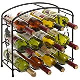 Grapevine Design Metal Freestanding 12 Bottle Wine Storage Rack