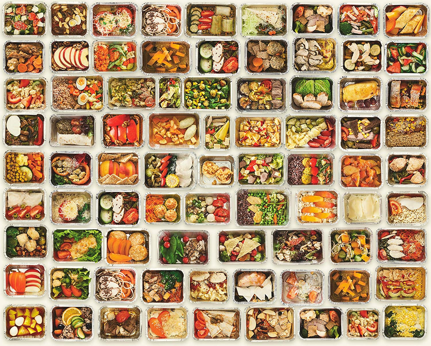 Jigsaw Puzzles 1000 Pieces for Adults Kids Family, Prjoyint Cool Challenging Food Puzzles Fun Indoor Activity Large