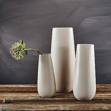 Große Vasen amazon de porzellan große vasen 3 tlg set purelifestyle