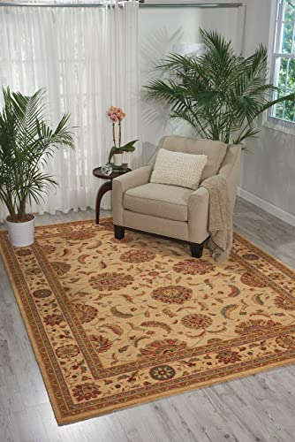Nourison Living Treasures Ivory Rectangle Area Rug