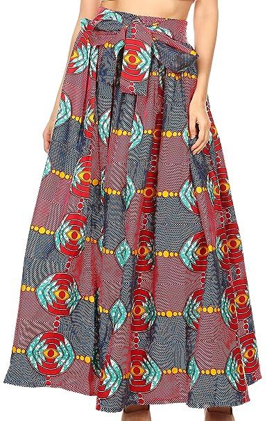 Sakkas 18417 - Falda con Estampado Africano Maxi Largo con ...