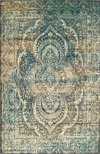 Superior Salford Area Rugs, 9 x 12 , Blue-Beige