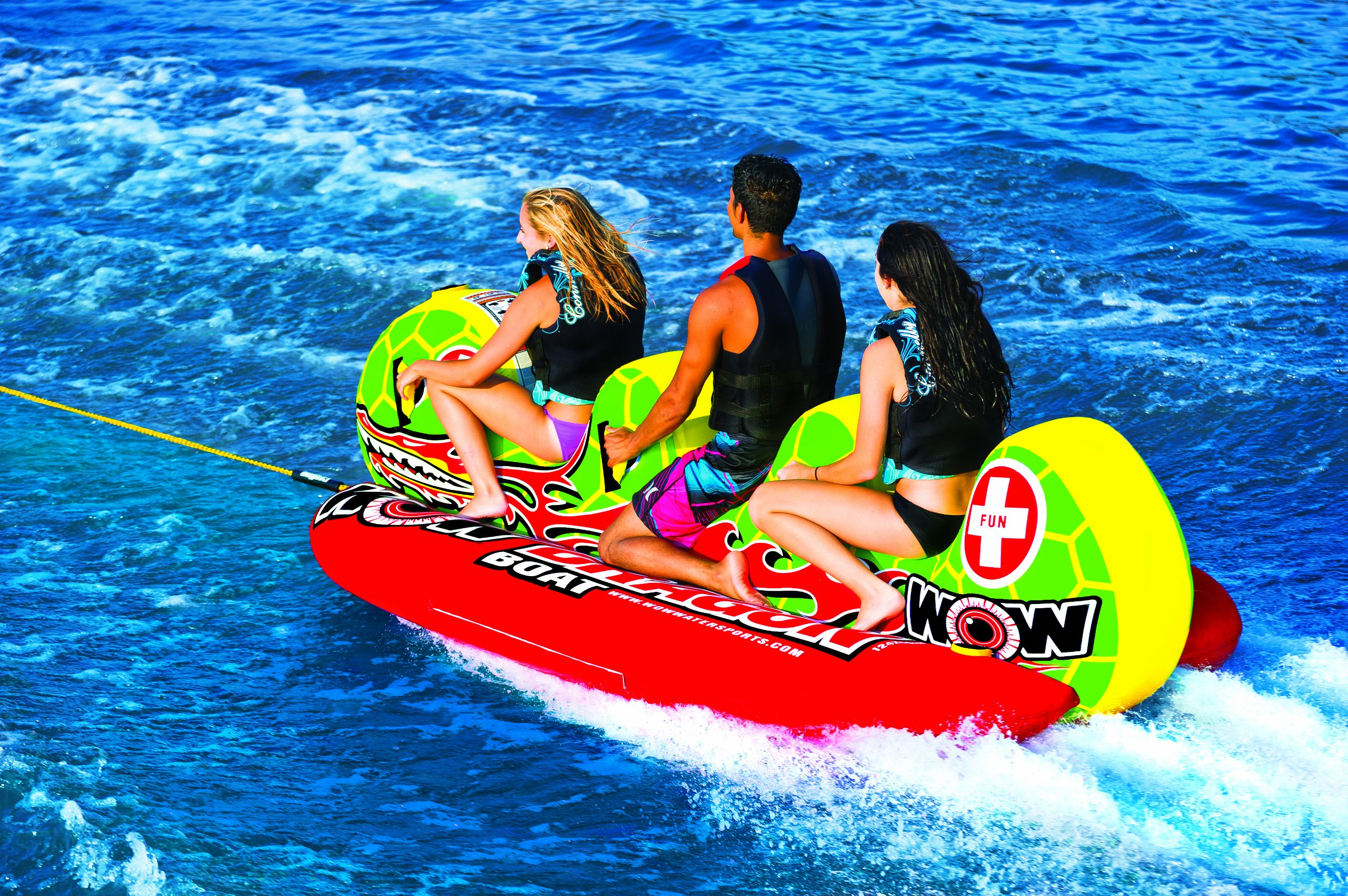 WOW World of Watersports 13-1060, Dragon Boat Inflatable Towable, Ski Tube, 3 Person by WOW Sports (Image #4)