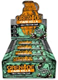 Grenade Carb Killa High Protein and Low Carb Bar, Dark Chocolate Mint - 12 x 60 g
