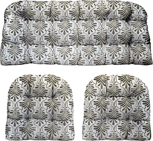 Deal of the week: RSH D cor Indoor Outdoor Decorative 3 Piece Tufted Love Seat / Settee 2 U-Shaped Chair Cushion Set