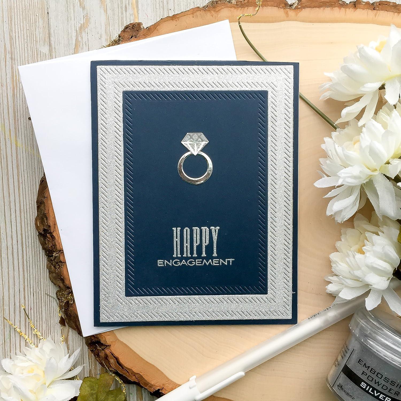 Diamond Ring Handmade Engagement Card Wedding Ring Greeting Card Diamond Ring Card Engagement Cards Engagement Card Handmade Cards