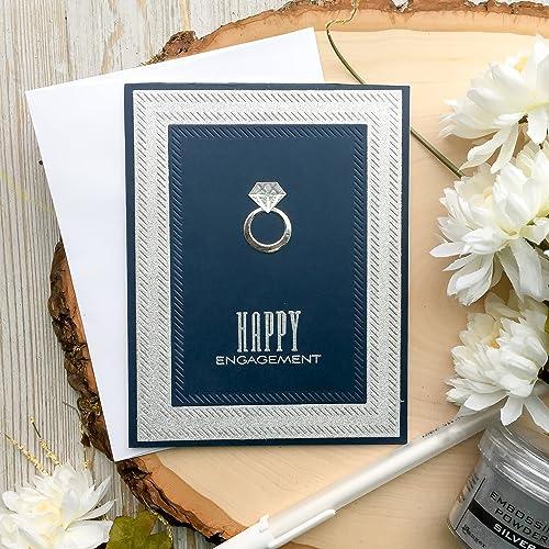 handmade engagement card engagement card wedding ring diamond ring card diamond ring - Engagement Cards