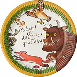 Talking Tables The Gruffalo Disposable Plates, 12 Count, Multicolor